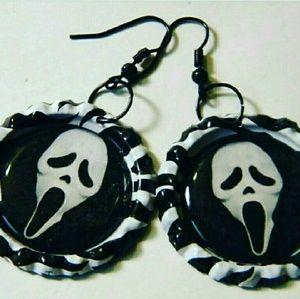 Jewelry - ♥Scream earrings Ghost Face killa